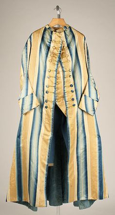 Banyan 1750, European, Made of silk, wool, and linen