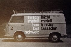 Autografik - modern graphic design on hirsch metall van