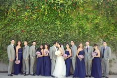 Loving this #Midnight bridal party wearing our Emily dresses! bridesmaid dress, parti dress