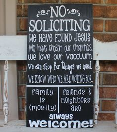 No Soliciting Sign on Etsy, $38.00