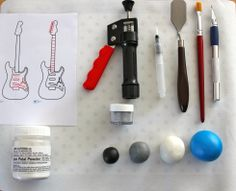 How to make a fondant guitar
