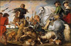 Peter Paul Rubens (Flemish, 1577–1640) and Workshop. Wolf and Fox Hunt, ca. 1616. The Metropolitan Museum of Art, New York. John Stewart Kennedy Fund, 1910 (10.73) #horses