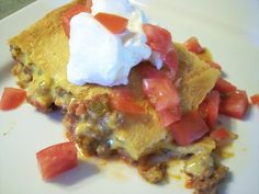 Mexican Casserole ~ This is quick and easy. Dress it up or serve it plain.