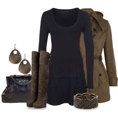 """Navy & Brown"" by lagu on Polyvore"