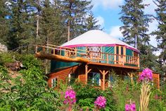 A two story yurt makes for a unique sustainable home. Image: Colorado Yurt Company