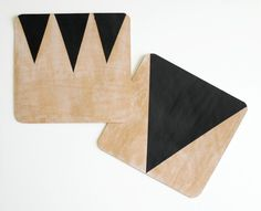 Modern #DIY Leather Mouse Pads #howto #geometric