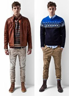 preppy-casual  #Fashion #style #men #pulls #chinos #beige #camel #blue #leather