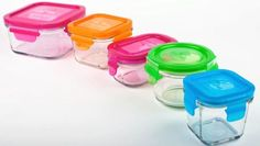 Wean Green Cubes: Eco-friendly, safe, durable glass containers for lunchboxes