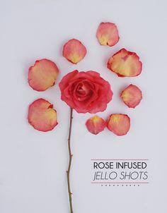 Rose infused jello shots. Say hello to classy