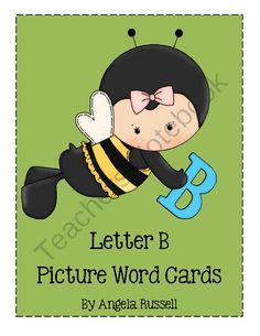 Letter B - Picture Word Cards from Angie's  Page  For Young Learners on TeachersNotebook.com -  (8 pages)  - Flashcards
