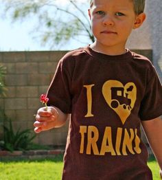 I Love Trains ink free Kids and Toddler Boys by CantaloupeCorner, $23.00
