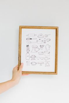 Kitchenware Print by Rosemary Paper Co