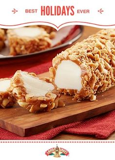 Caramel Nut Logs — a classic candy bar, straight from your kitchen. #BestHolidaysEver