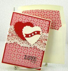 valentin card, handmad card, handstamp card, card romant