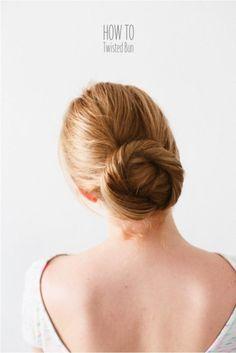 diy hairstyles, bun hairstyles, hair tutorials, hair bun, style hair, beauti, hair style, twist bun, hair idea