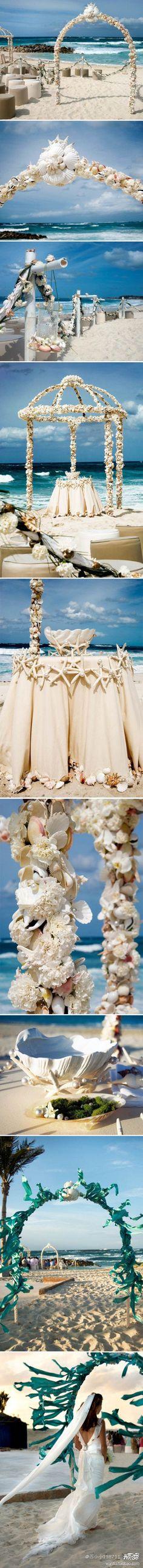 Wow, what an arbor #beach #wedding