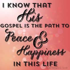 I know without HIS gospel I would be lost... #ldsconf