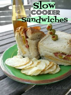 Slow Cooker Sandwiches - Who knew you could make awesome sandwiches in the crockpot!