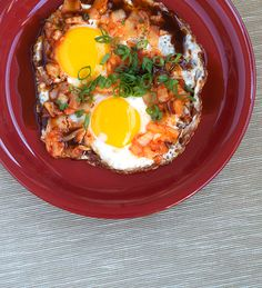 Fried Eggs with KimChi