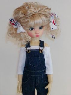 Denim Overalls   fit Wiggs MSD BJD & similar by oursweetcreations