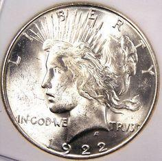 Silver Peace Dollar.