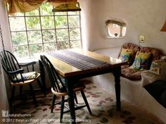 cob home, benches, tiny houses, house interiors, cottages, cob cottag, cobhous, small homes, cob houses