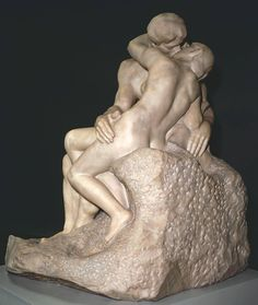 The Kiss (Le Baiser) by Auguste Rodin (1901-4) at Tate Modern, London.