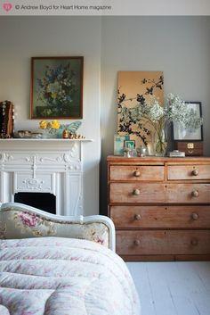 fireplace + dresser