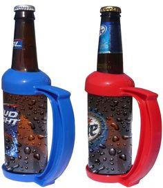 The Bottle Grip is an exciting new drinking accessory that keeps your hand warm and your bottle cold. Its unique patented design turns any 12-ounce bottle into a stein-style mug. Guaranteed to be the hit of any party and will also prevent the always awkward cold/wet handshake.    Price: $6.62