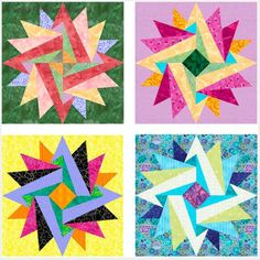 #FreeQuiltingPattern - This Indian Summer Paper Pieced Block is fabulous! It would be fantastic as a sun but also a perfect center piece to tie the colors of your quilt together! Click the image to get the free instant download of the pattern. #quilting