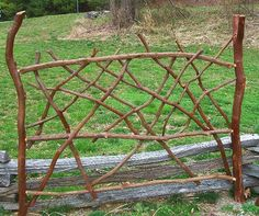 Rustic Bed Headboard Laurel Twig Log Cabin by BlueRidgeRustics, $895.00....here is a laurel headboard I made