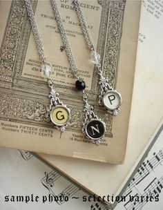 Jewelry from typewriter keys. Extra cool.
