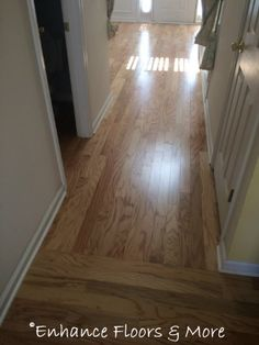 "Installation by Enhance Floors & More: Mohawk Fairlain Oak Red Oak Natural 3/8"" x 3"" engineered"
