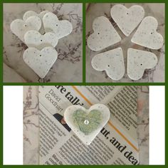 Clay Heart Tags - pack of 5 by WrapperSnapper http://www.etsy.com/listing/159920935/clay-heart-tags-pack-of-5 via @Etsy