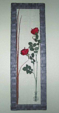 bloemschikken: maken van een kerstkader