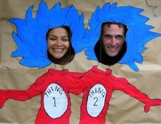 "Dr Seuss party great ""photo booth"" idea!!"