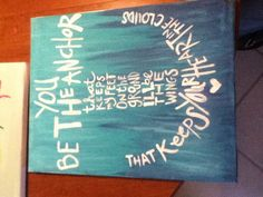 Maryn's painting:) bible verse painting :)<3 anchor