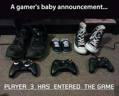 Gamers baby announcement
