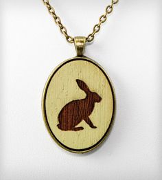 Cameo Bunny Rabbit Necklace
