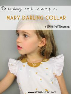 StraightGrain. Mary Darling collar: Free tutorial