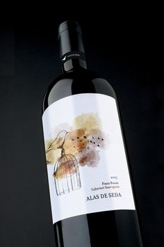 """Alas de seda"" by Martha Robertson, via Behance #taninotanino #vinosmaximum #wine"