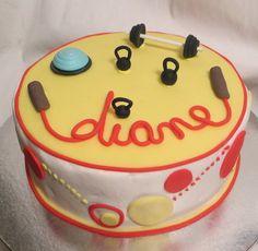 Fitness Theme Cake  Cake by Cabana Cakery