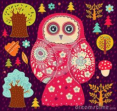 'Owl and Trees' by Moleskostudio