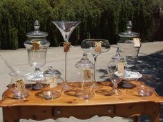 Glass Containers with Scoops - Country Chic Wedding Candy Station $140