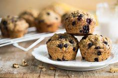 Blissful Blueberry Banana Spelt Muffins (Vegan+Refined Sugar Free)