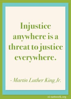 Martin Luther King Jr. quotation on injustice