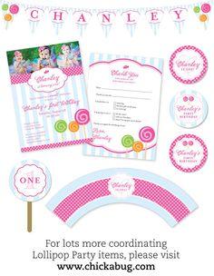 Lollipop Party printables