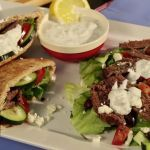 This yummy flank steak is tasty over a salad or tucked into a pita pocket. Drizzle fat-free tzatziki sauce over it for added flair.