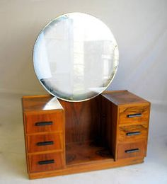 Art Deco Walnut Dressing Table. I want one of these so bad...