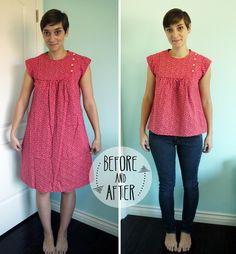 Dress to Blouse Tutorial